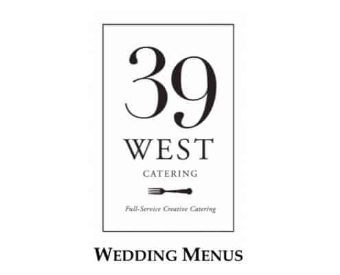 39 West Wedding Menu PDF