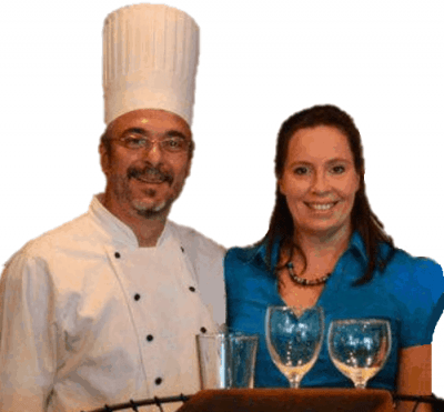 Chef Greg Lewis and Catering Manager Jen Hernly